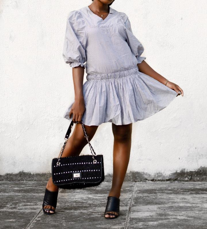 Striped dress, Zara dress