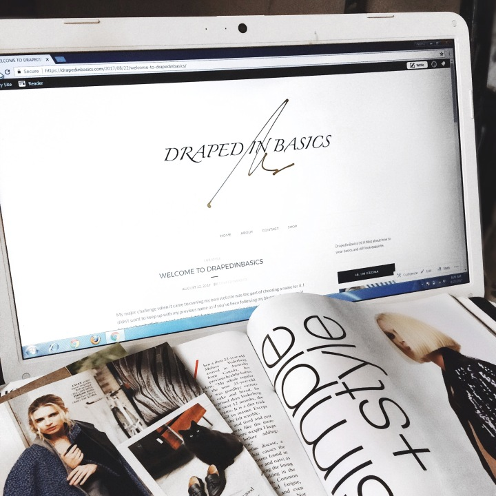 DrapedInbasics.com, new blog, whowhatfab, how to start a fashion blog