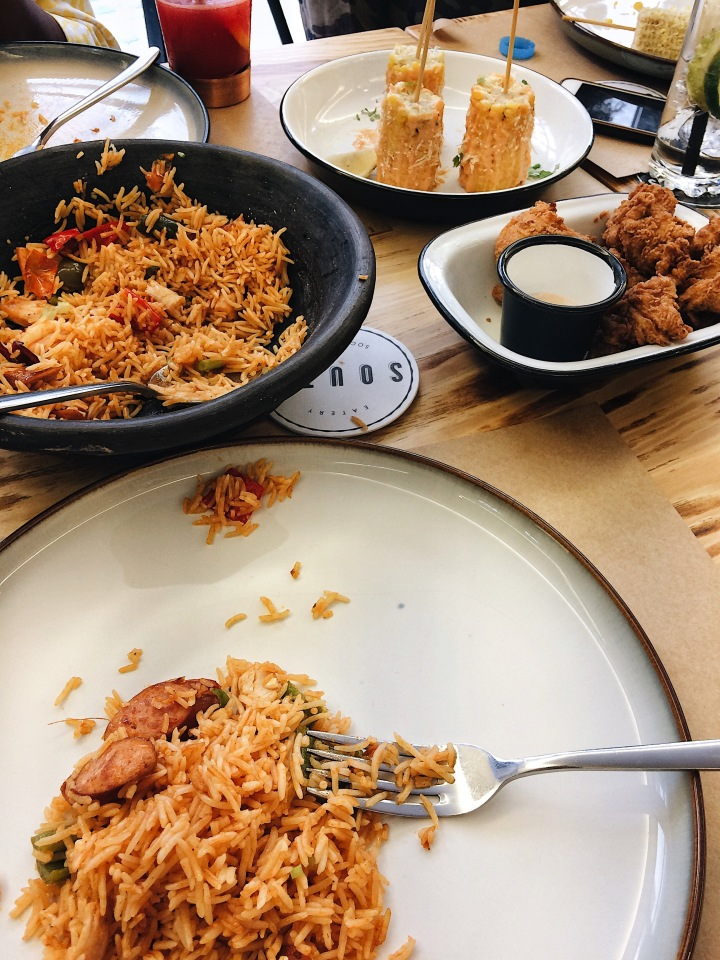 The south Eatery and social house, restaurant in Lagos, where to visit in Lagos, how to have fun in Lagos, affordable food in Lagos, Victoria island, Nigeria, jollof rice,jambalaya rice